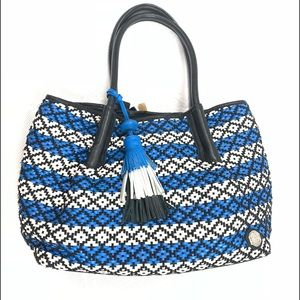 Vince Camuto Blue Harlo Travel Tote Bag